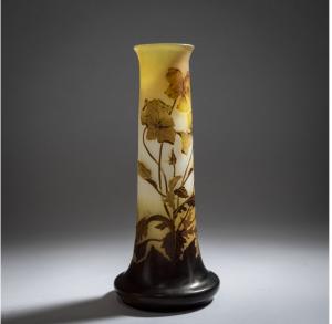 Galle Vase - Pensees