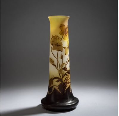 Galle Vase - Pensees