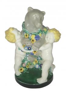 Gmundner Keramik - Puttos und Bär @galleryeight