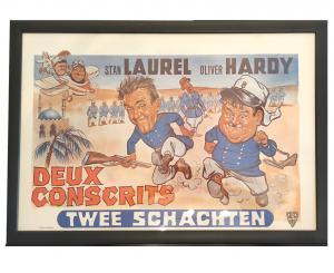 Filmplakat Stan Laurel Oliver Hardy - Twee Schachten @galleryeight