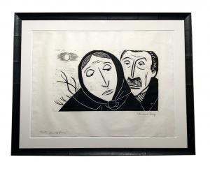 Werner Berg - Trauerndes Paar @galleryeight